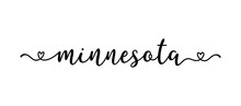 Hand Sketched MINNESOTA Text. Script Lettering For Poster, Sticker, Flyer, Header, Card, Clothing, Wear