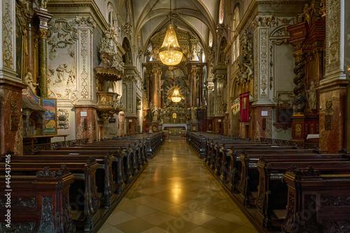 Leinwand Poster Franciscan  Church (Franziskaner Kirche) in Vienna