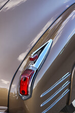 Tail Lamp Of Shiny Classic Car