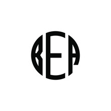 BEA Letter Logo Design. BEA Letter In Circle Shape. BEA Creative Three Letter Logo. Logo With Three Letters. BEA Circle Logo. BEA Letter Vector Design Logo