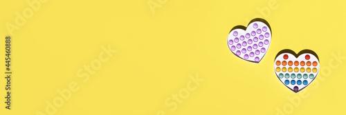 Fotografie, Obraz Banner pop it abc yellow simple dimple