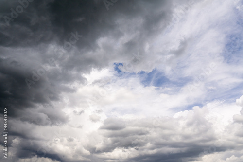 chmury, niebo, burza, błękit, nastrój, groza