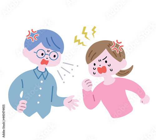 Fotografia, Obraz 激しく喧嘩する若い夫婦