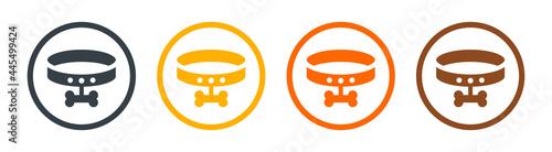 Fotografering Dog collar vector icon sign symbol.
