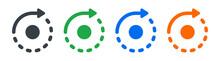 Rotation, Reload, Refresh, Circle, Cycle Arrow Signs. Vector Illustration