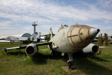 Military Equipment In The Museum. Park Complex Of History Of Technology Named After K.G. Sakharov In Togliatti. Russia