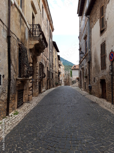Włoskie miasteczko Sermoneta.