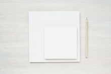Two Different Size Square Notepads Mockup, Sticky Paper, Album, Note Paper Mock Up.