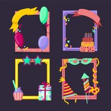 Hand Drawn Birthday Collage Frame Set