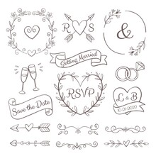 Hand Drawn Wedding Ornaments Collection_2