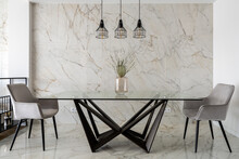 Modern Dining Table With Two Chairs