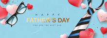 Happy Fathers Day Greeting Banner