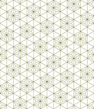 Seamless Traditional Japanese Ornament Kumiko.Golden Color Lines.
