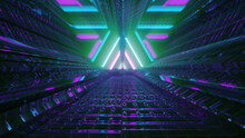 Kaleidoscopic Background With Colorful Lights And Angular Lines