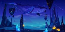 Whale Swims In Deep Space Cartoon Vector