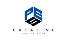 Letter PES Creative Logo Design Vector