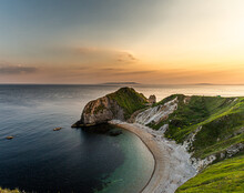 Durdle Door Beach. Part Of The Jurassic Coast, A World Heritage Site In The South West Of England.