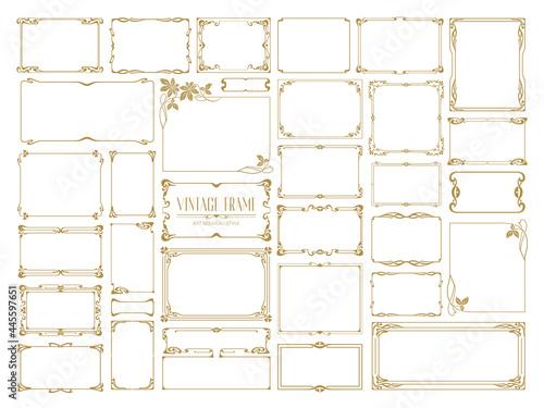 Fototapeta Big set Template of Decorative vintage frames,borders rectangular shape