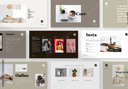 Brand Guide Lines Presentation Layout