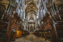 Interior Of The Ancient Salisbury Cathedral