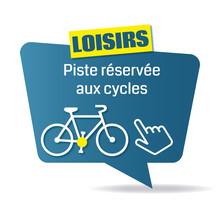 Logo Piste Réservée Au Cycles.