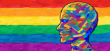 Pride and people social justice and gay rights community support or LGBT and LGBTQ community tolerance symbol