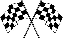 Nascar Checkered Flag Racing Flag Finished Flag Svg Vector T Shirt Design For Cricut And Silhouette Crossed Flags