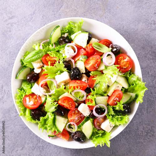 bowl of fresh vegetables salad