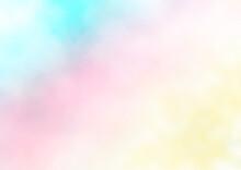 夢かわいい ふわふわの背景素材 パステルカラー(青・ピンク・黄色)
