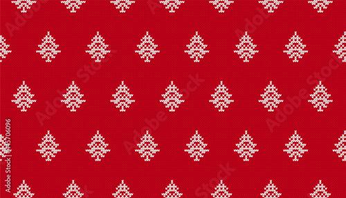 Obraz na plátně Xmas knit pattern