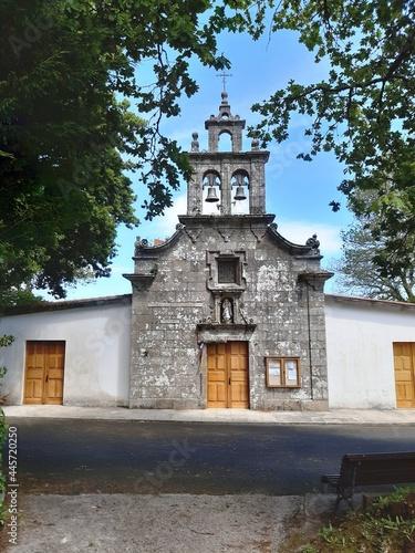 Billede på lærred Santuario de los Remedios en Teixeiro, Galicia