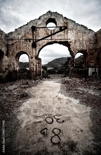 Minas abandonadas de Mazarrón en Murcia Fototapeta