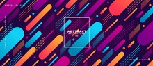 Abstract Geometric Shapes Composition Banner_5
