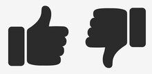 Thumb Up Thumb Down Icons Isolated On White Background. Like And Dislike Icon, Buttons Set. Vector Illustration