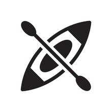 Kayak Boat Icon - River Boat Icon