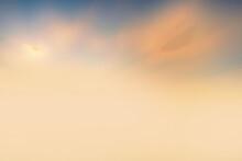 Orange Sky With Clouds