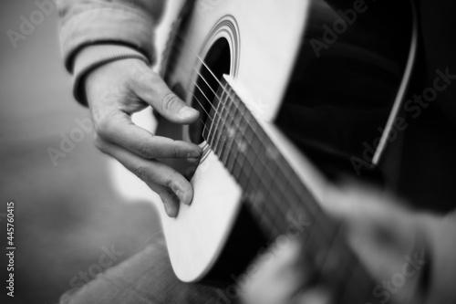 Fototapeta man playing guitar