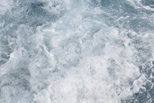 Foamed Seawater Behind The Stern Of A Sailing Ship