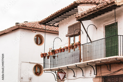 Old and majestic houses in the streets of Villanueva de los Infantes village Fototapeta