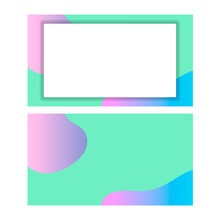 Abstract Blurred Gradient Mesh Background In Light Rainbow Colors. Colors Pink, Mint, Blue Purple.Clear Background And Superimposed Glass Effect. Banner Template. Editable Color Vector Illustration Wi