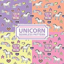 Magic Unicorn Seamless Pattern Style