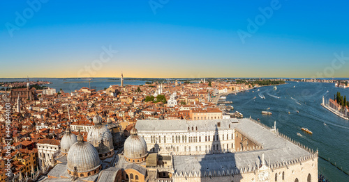 scenic view to roof of san marco  cathedral and skyline of Venice Fototapet