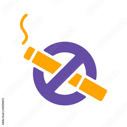 Photo No smoking sign vector isolated glyph icon