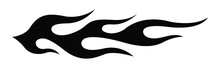 Tribal Hot Rod Flame Silhouette Motorcycle And Car Decal Graphic And Airbrush Stencil. Ideal For Car Decal, Sticker And Even Tattoos