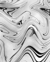 Abstract Black And White Fluid Acrylic Background