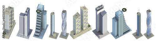 Fotografiet 10 birds eye view detailed renders of fictional design high tech tall buildings