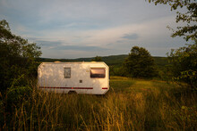 Caravan Car Parking In Nature