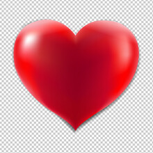 Red Heart With Isolated Background