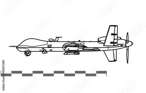 Obraz na plátne General Atomics MQ-9 Reaper