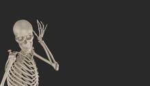 Skeleton Posing 3d Render